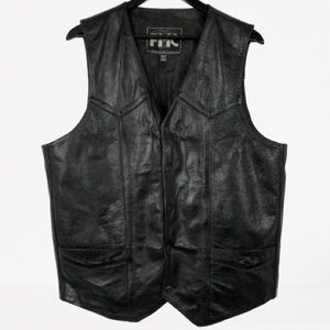 FMC Tombstone Leather Western Motorcycle Vest